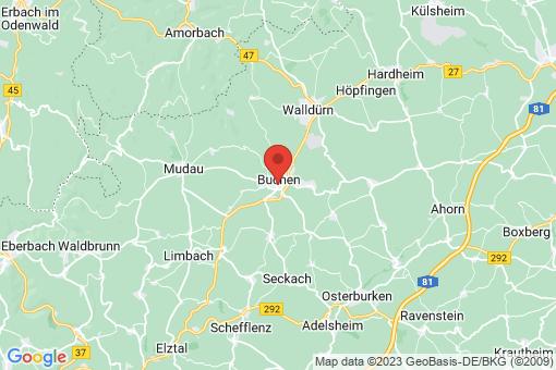 Karte Buchen (Odenwald)