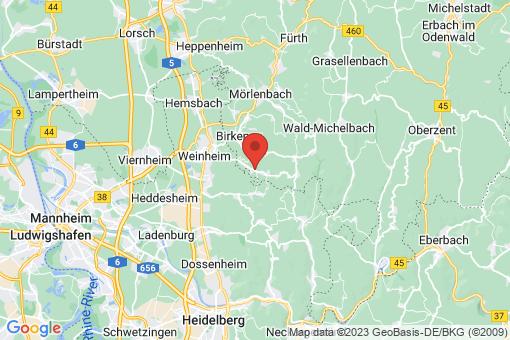 Karte Gorxheimertal