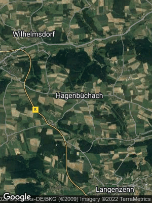 Google Map of Hagenbüchach
