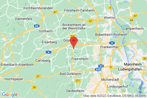 Karte Kirchheim an der Weinstraße