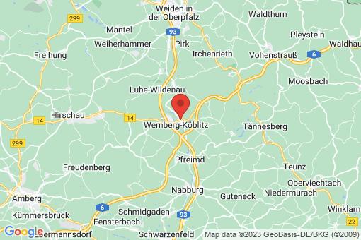 Karte Wernberg-Köblitz