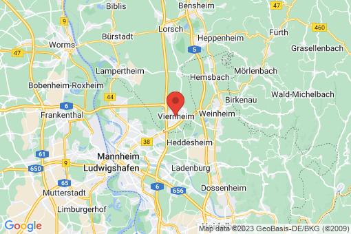 Karte Viernheim