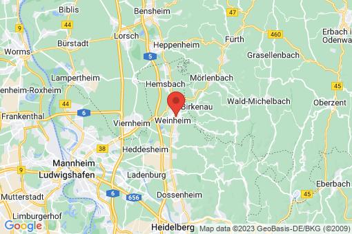 Karte Weinheim