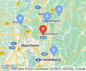 Karte für Vogelpark Viernheim