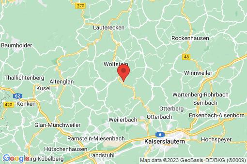Karte Kreimbach-Kaulbach