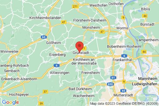 Karte Grünstadt