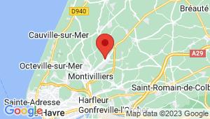 Carte de localisation du centre de contrôle technique EPOUVILLE