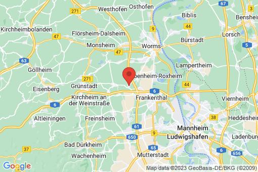 Karte Heuchelheim bei Frankenthal