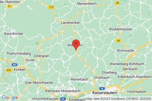 Karte Rutsweiler an der Lauter