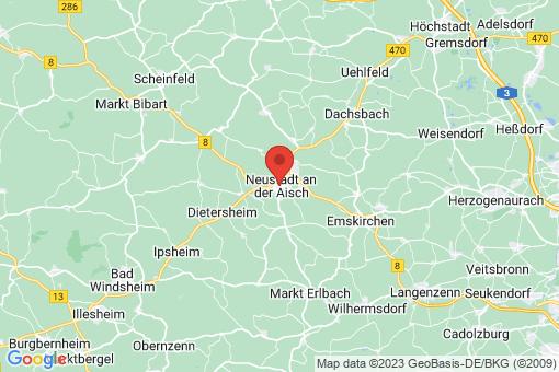 Karte Neustadt an der Aisch