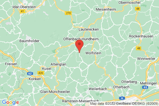 Karte Hinzweiler