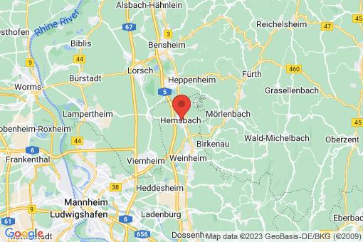 Karte Hemsbach