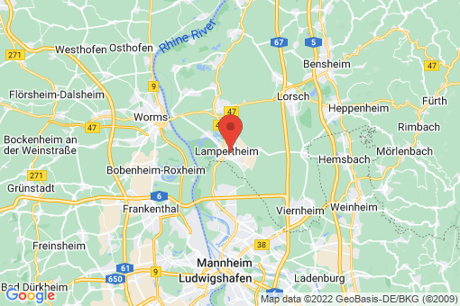 Karte Lampertheim