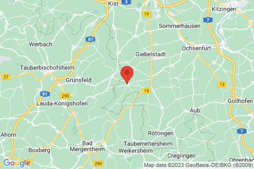 Karte Bütthard