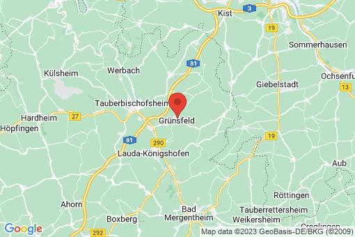 Karte Grünsfeld