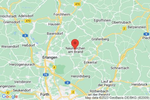 Karte Neunkirchen am Brand