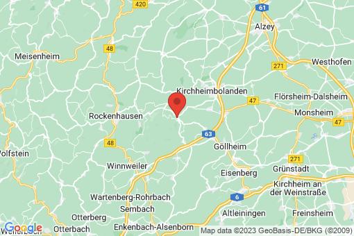 Karte Dannenfels