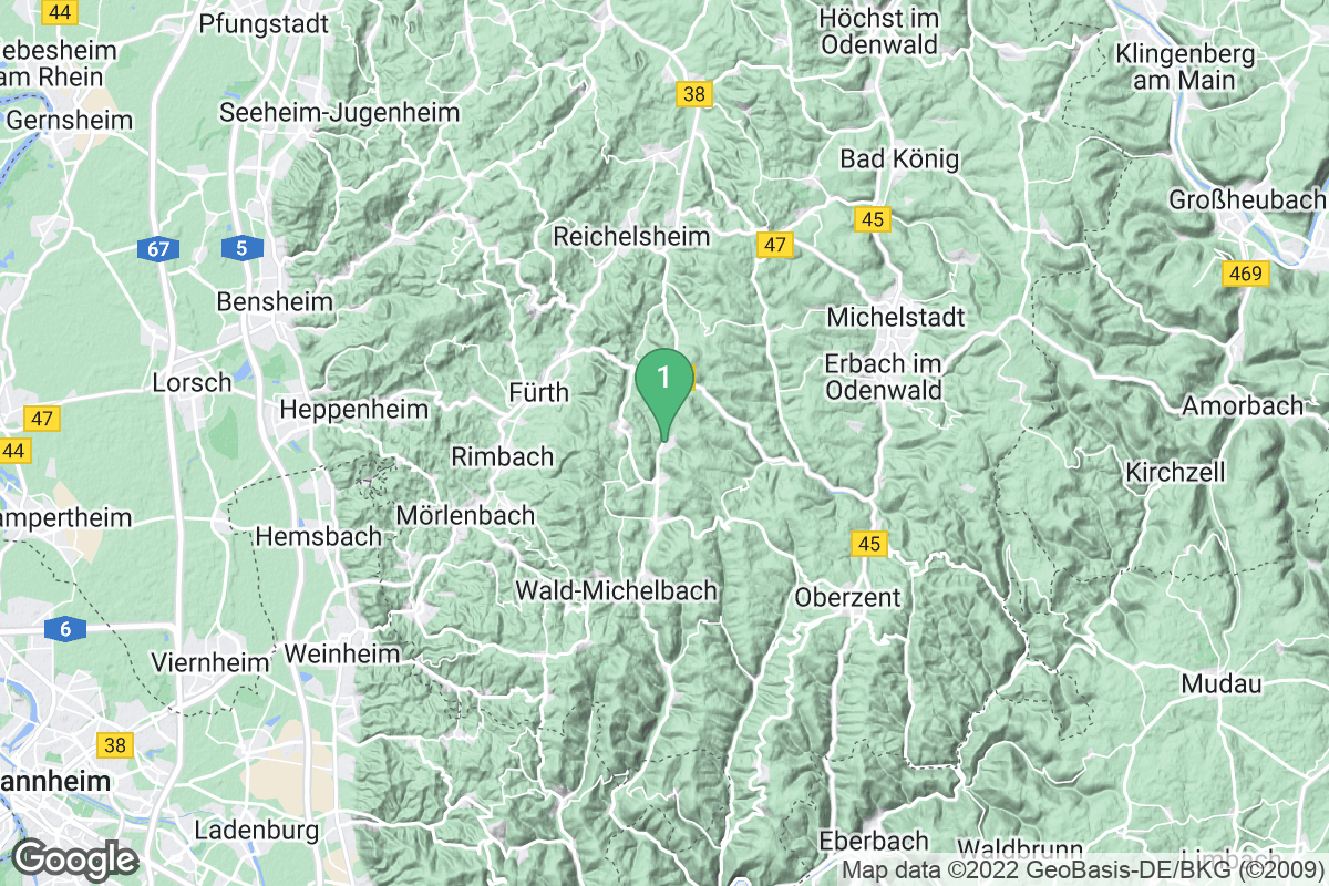 Google Map of Grasellenbach