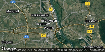 Google Map of Worms