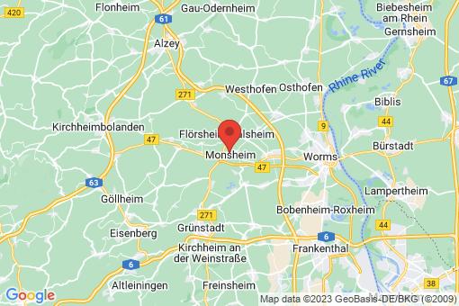 Karte Monsheim