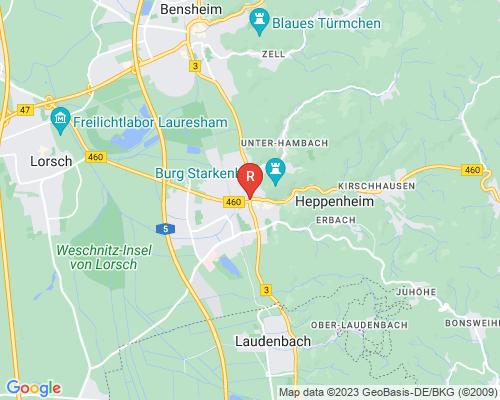 Google Karte von Rohrreinigung Heppenheim