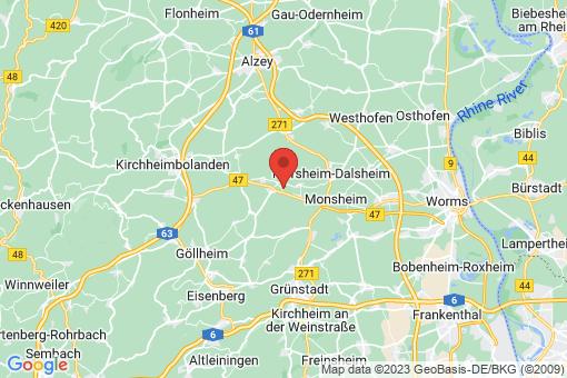 Karte Niefernheim-Zellertal
