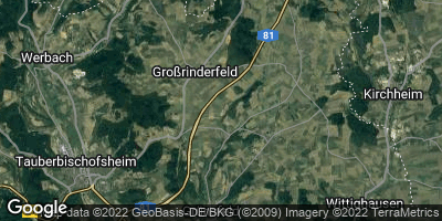 Google Map of Großrinderfeld