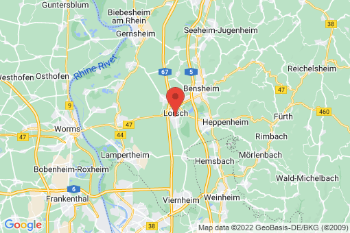 Karte Lorsch