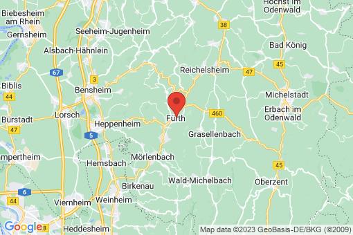 Karte Fürth