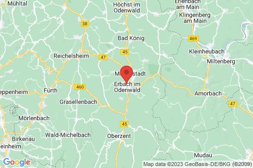 Karte Erbach