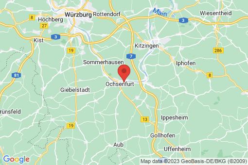 Karte Frickenhausen am Main