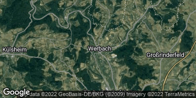 Google Map of Werbach