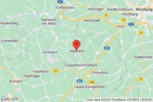 Karte Werbach