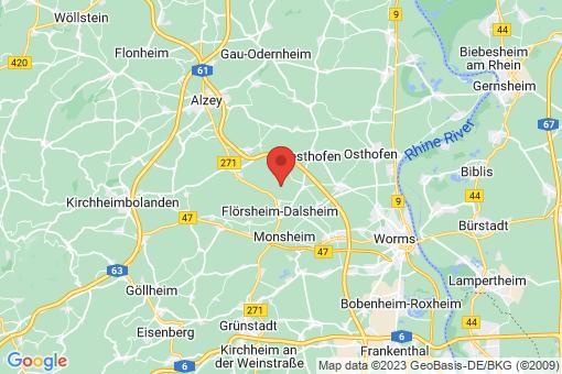 Karte Flörsheim-Dalsheim