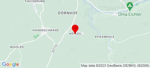 Google Map für Handwerkerhof Fränkische Schweiz
