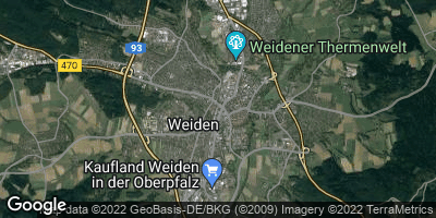 Google Map of Weiden in der Oberpfalz