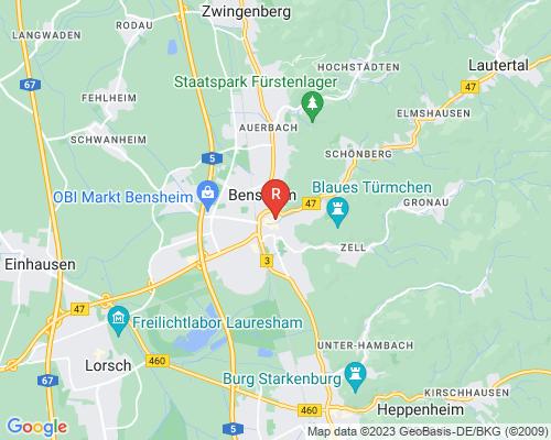 Google Karte von Rohrreinigung Bensheim