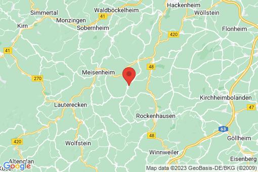 Karte Finkenbach-Gersweiler