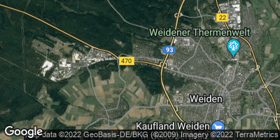 Google Map of Latsch bei Weiden
