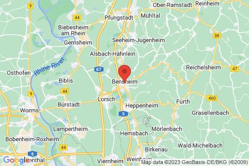 Karte Bensheim