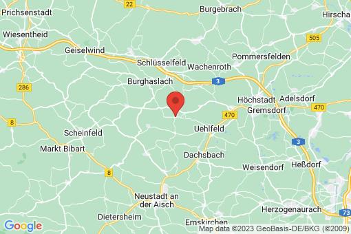 Karte Vestenbergsgreuth