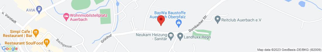 BayWa Baustoffe Auerbach Anfahrt