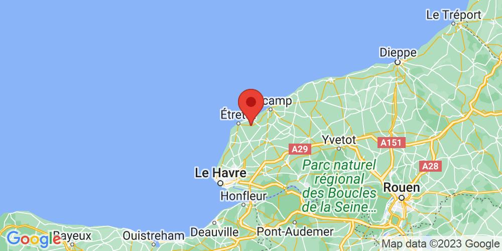 Carte du positionnement du camping L'Aiguille Creuse