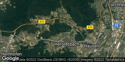 Google Map of Heroldsbach