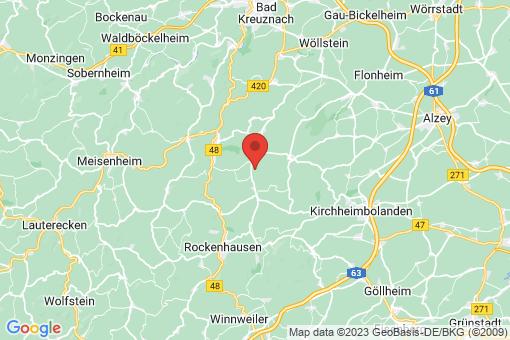 Karte Gaugrehweiler