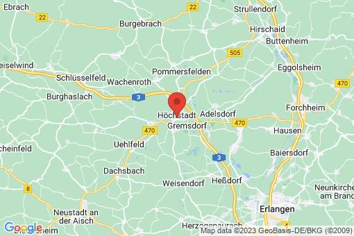 Karte Höchstadt an der Aisch