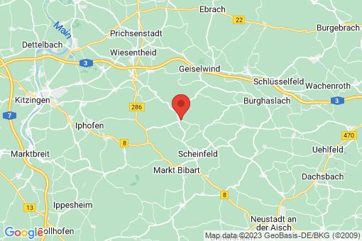 Karte Oberscheinfeld