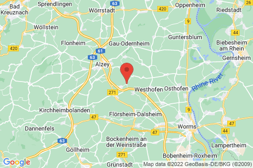 Karte Hangen-Weisheim
