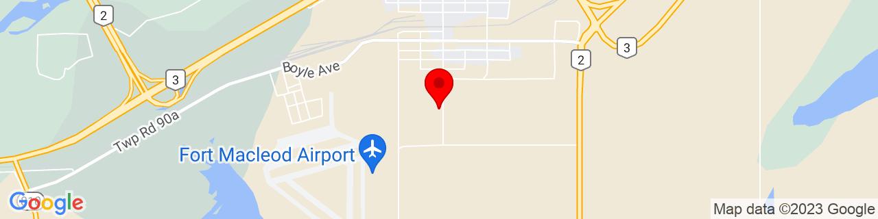 Google Map of 49.71071666666667, -113.40637222222223