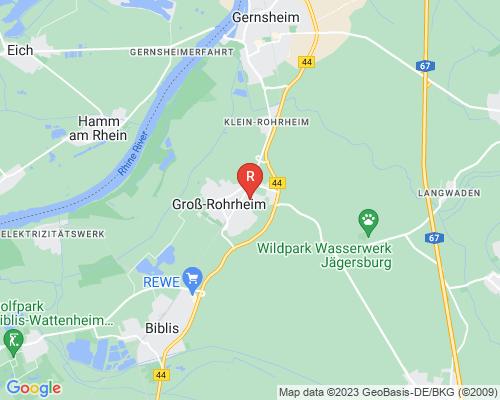 Google Karte von Rohrreinigung Groß-Rohrheim